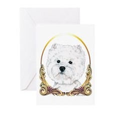 Westie Face Christmas Greeting Cards (Pk of 20)
