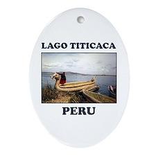 Lago Titicaca Peru Oval Ornament