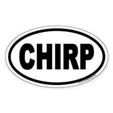 CHIRP Euro Oval Decal