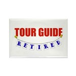 Retired Tour Guide Rectangle Magnet (100 pack)