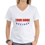 Retired Tour Guide Women's V-Neck T-Shirt