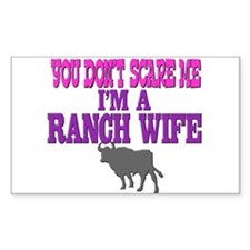 """""""RANCH WIFE"""" Rectangle Decal"""
