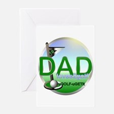 Funny Golf dad Greeting Card