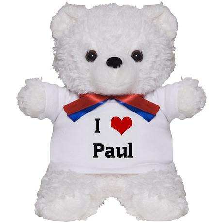 I Love Paul Teddy Bear