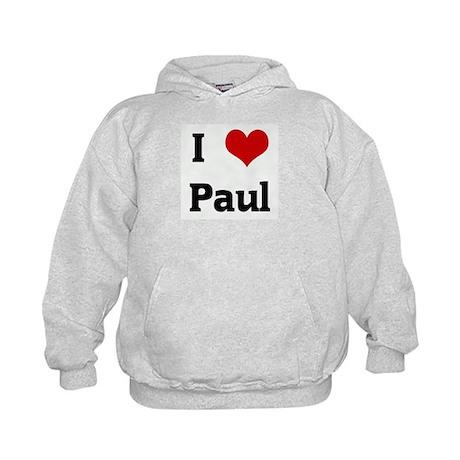 I Love Paul Kids Hoodie