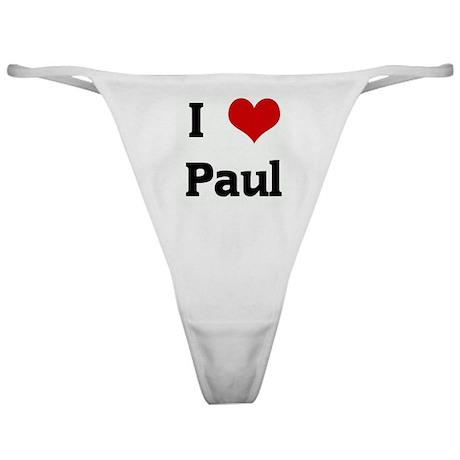 I Love Paul Classic Thong