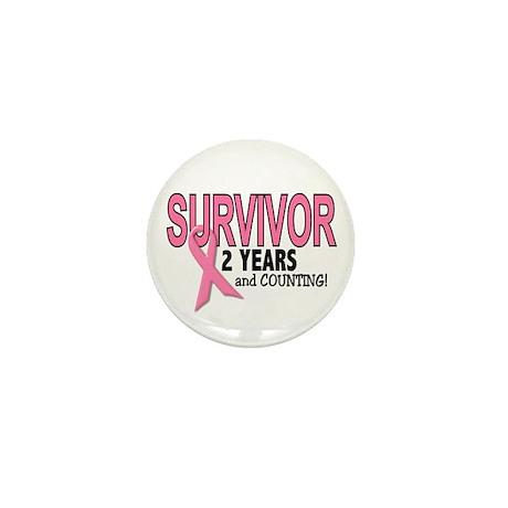 Breast Cancer Survivor 2 Years Mini Button
