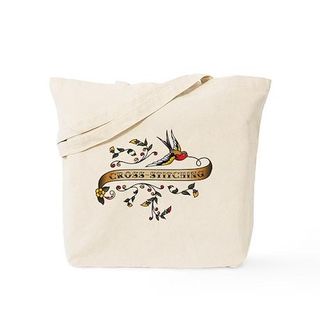 Cross-stitching Scroll Tote Bag
