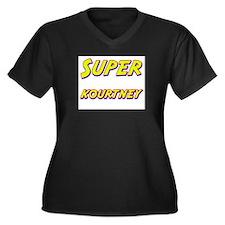 Super kourtney Women's Plus Size V-Neck Dark T-Shi