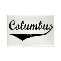 Columbus Rectangle Magnet