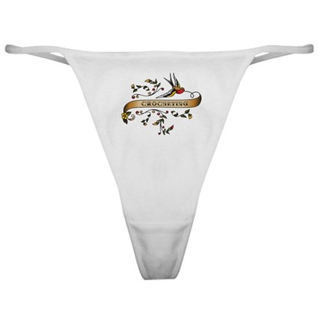 Crocheting Scroll Classic Thong