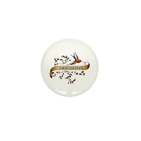 Crocheting Scroll Mini Button (100 pack)