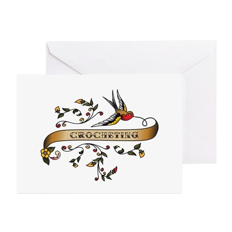Crocheting Scroll Greeting Cards (Pk of 10)