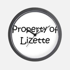 Unique Lizette Wall Clock