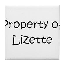 Funny Lizette Tile Coaster