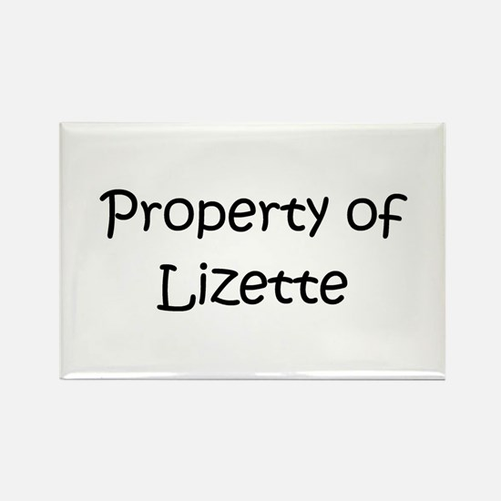 Cool Lizette Rectangle Magnet