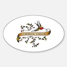 Criminal Justice Scroll Oval Decal
