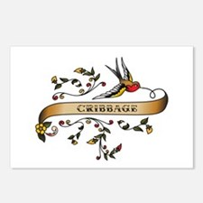 Cribbage Scroll Postcards (Package of 8)
