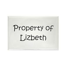 Unique Lizbeth Rectangle Magnet