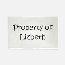 Cute Lizbeth Rectangle Magnet