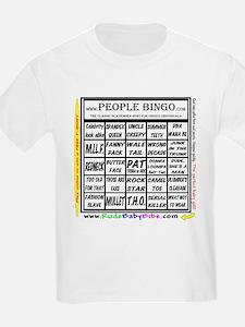 Kids T-Shirt / Bingo card front, Logo rear