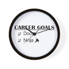 Doctor Career Goals Ninja Wall Clock