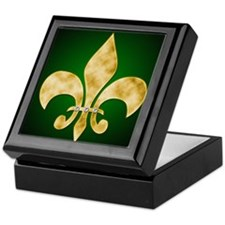 Unique Fleur de lis Keepsake Box