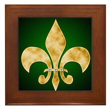 Unique Green gold Framed Tile