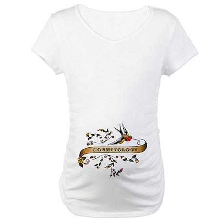 Cosmetology Scroll Maternity T-Shirt