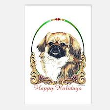 Tibetan Spaniel Happy Holidays Postcards (8 Pack)