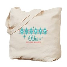 Golden Oldie 40th Birthday Tote Bag
