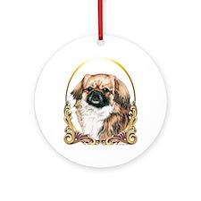 Tibetan Spaniel Christmas Ornament (Round)