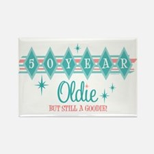Golden Oldie 50th Birthday Rectangle Magnet