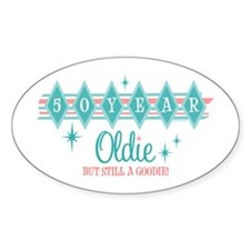 Golden Oldie 50th Birthday Oval Decal