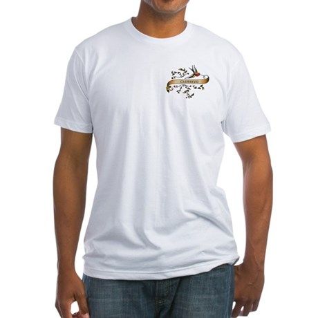 Climbing Scroll Fitted T-Shirt