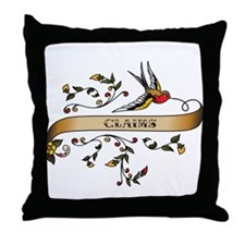 Claims Scroll Throw Pillow