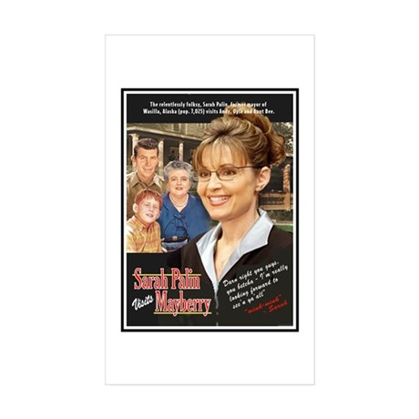 Sarah visits Mayberry Rectangle Sticker 10 pk)