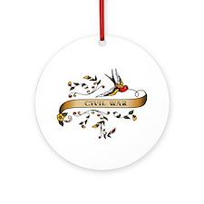 Civil War Scroll Ornament (Round)