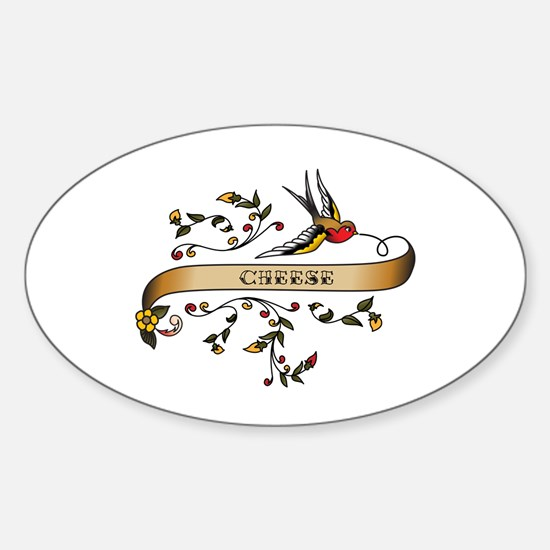 Cheese Scroll Oval Decal