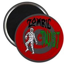 """Funny Halloween zombie 2.25"""" Magnet (100 pack)"""