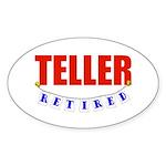 Retired Teller Oval Sticker (10 pk)