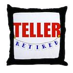 Retired Teller Throw Pillow