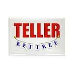 Retired Teller Rectangle Magnet (100 pack)