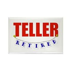 Retired Teller Rectangle Magnet (10 pack)