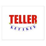 Retired Teller Small Poster