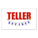Retired Teller Rectangle Sticker
