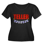 Retired Teller Women's Plus Size Scoop Neck Dark T