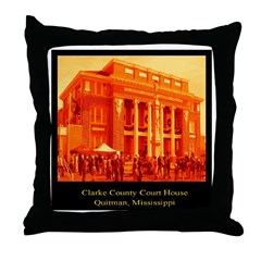 clarke county court house Throw Pillow