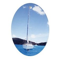 Caribbean Sailing - Holiday Ornament Oval
