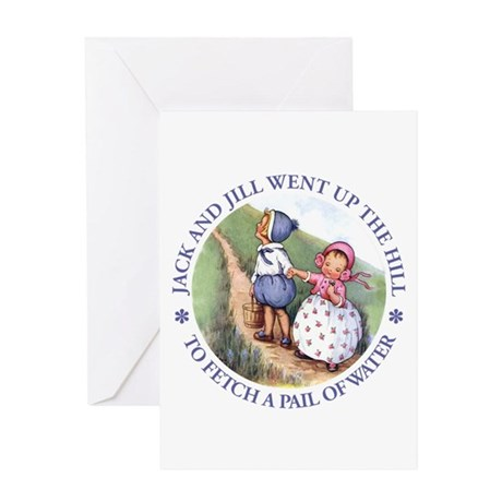 JACK & JILL WENT UP THE HILL Greeting Card